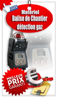 Balise de chantier detection gaz